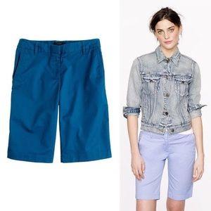 J.Crew Teal Blue Flat Front Pocket Bermuda Shorts
